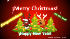 Christmas Animated Greeting Cards, Merry Christmas card