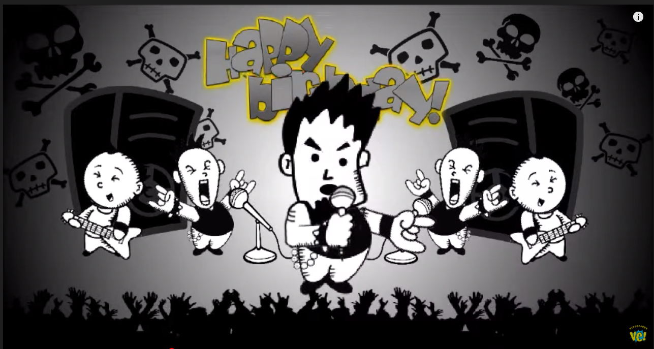 Happy birthday punk, happy birthday to you punk ANIMATED rock metal