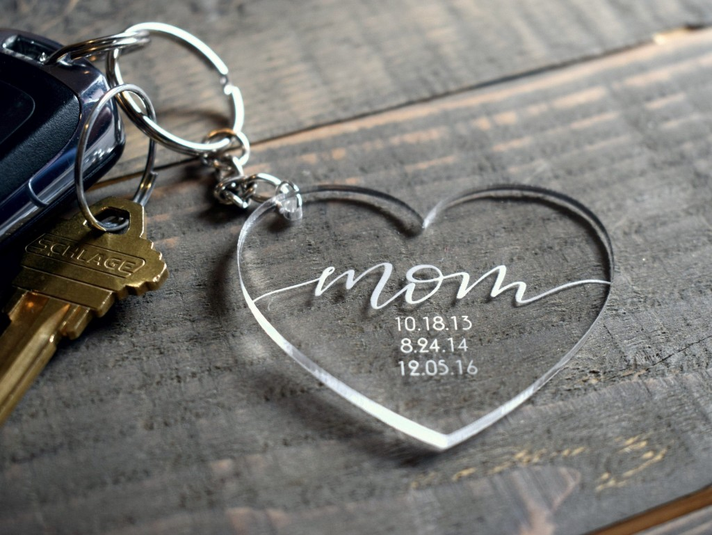 Mother's Day Gift Ideas, custom personalized key ring